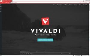 Screenshot des Vivaldi Browsers